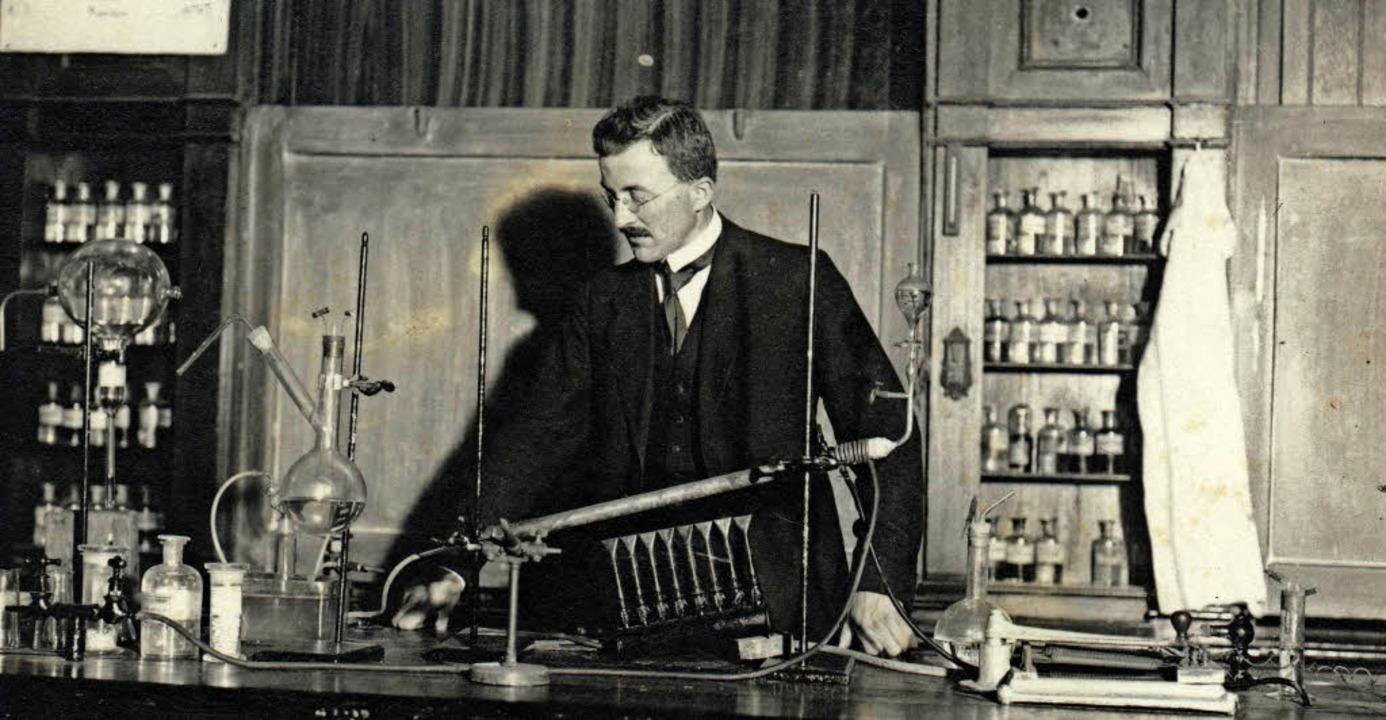 Hermann Staudinger im Jahr 1917 an der...er bis 1925 eine Professur innehatte.   | Foto: eth
