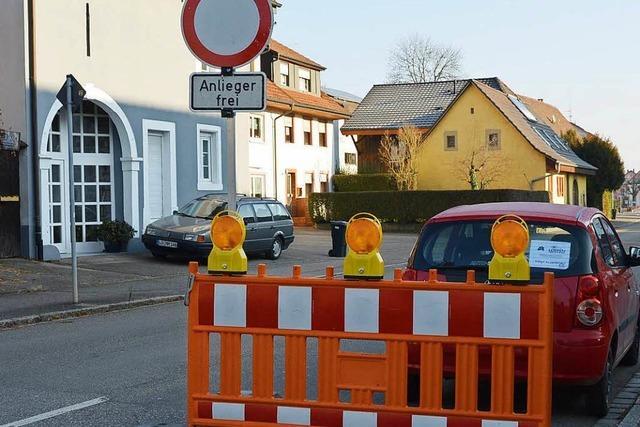 Warmbacher Straße bis Ende September gesperrt