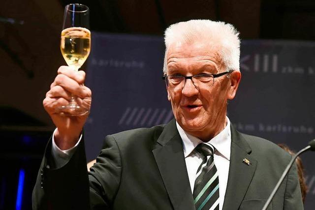 Kretschmann erhält badischen Weinpreis und 225 Liter Wein