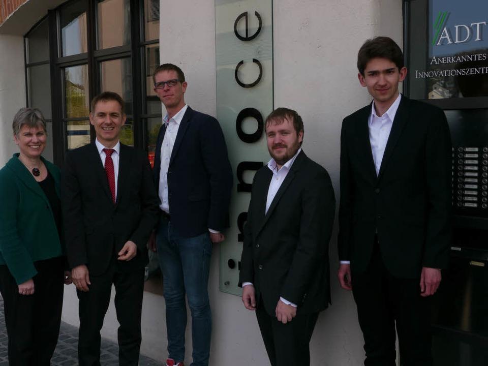 Wirtschaftsförderin Marion Ziegler-Jun...ei, und Christopher Balke (von links).  | Foto: Willi Adam