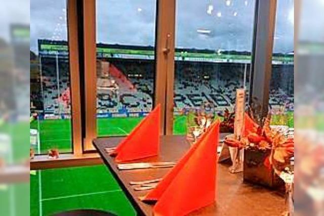 Dort, wo Freiburgs VIPs Fußball schauen