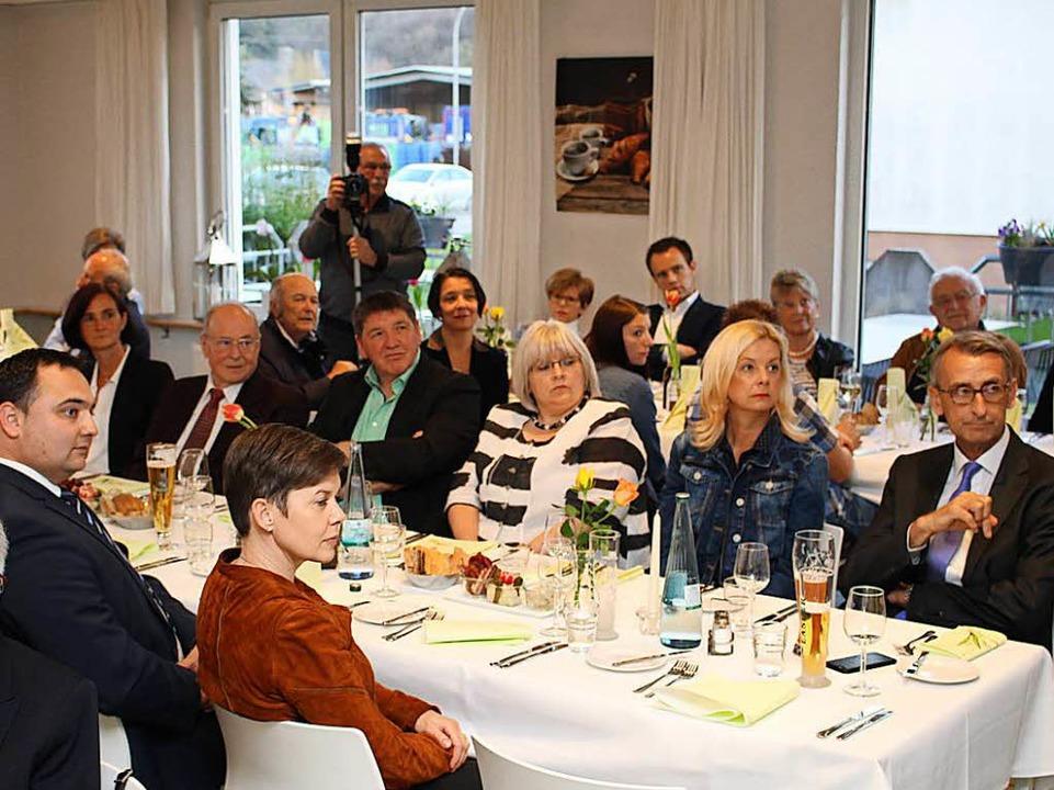 Rege war die Beteiligung der CDU-Mitgl...der Feier im Steinener Hug-Restaurant.  | Foto: Anja Bertsch