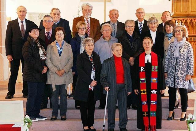 Feier des Konfirmationsjubiläums