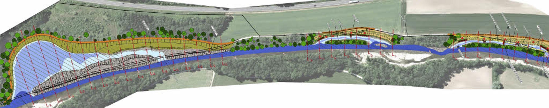 Auf einer Luftaufnahme sind die geplan... tiefer als der Hauptlauf der Wutach.     Foto:  Regierungspräsidium Freiburg