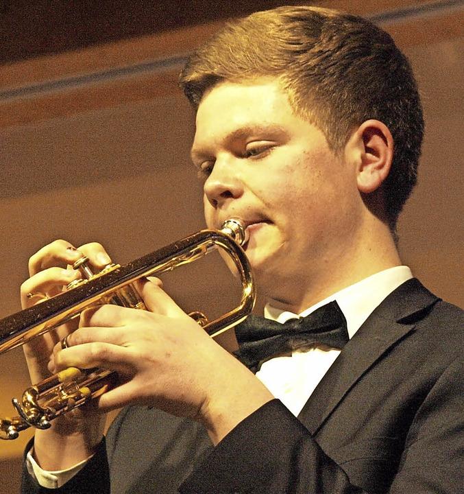25 Jahre Jugendorchester Rickenbach fe...zte mit einem Trompetensolo als Zugabe  | Foto: Karin Stöckl-Steinebrunner