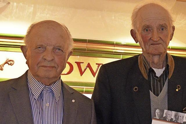 Zwei Männer, zusammen 110 Jahre in der CDU