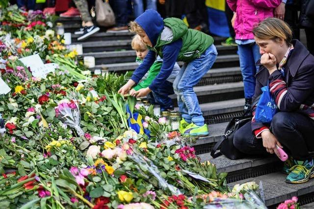 Stockholm trauert um die Opfer des Anschlags vom Freitag