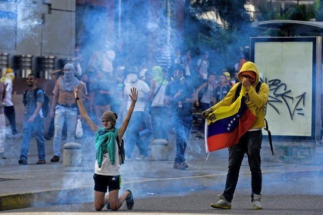 Aufruhr in Caracas