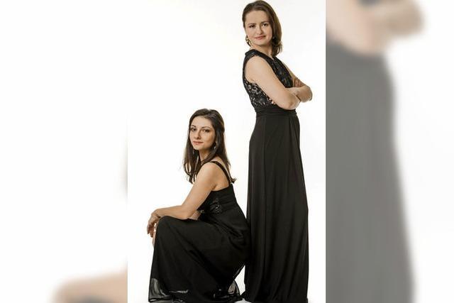 Valeria Gleim (Violine) und Ayla Schmitt (Klavier) in Hinterzarten