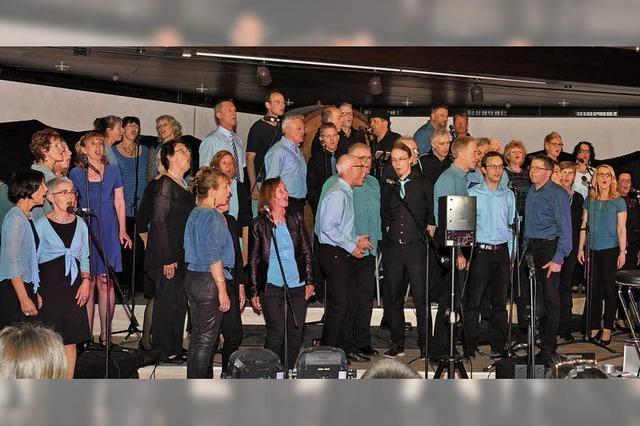 Chor'n more begeistert sein Publikum im Badischen Winzerkeller
