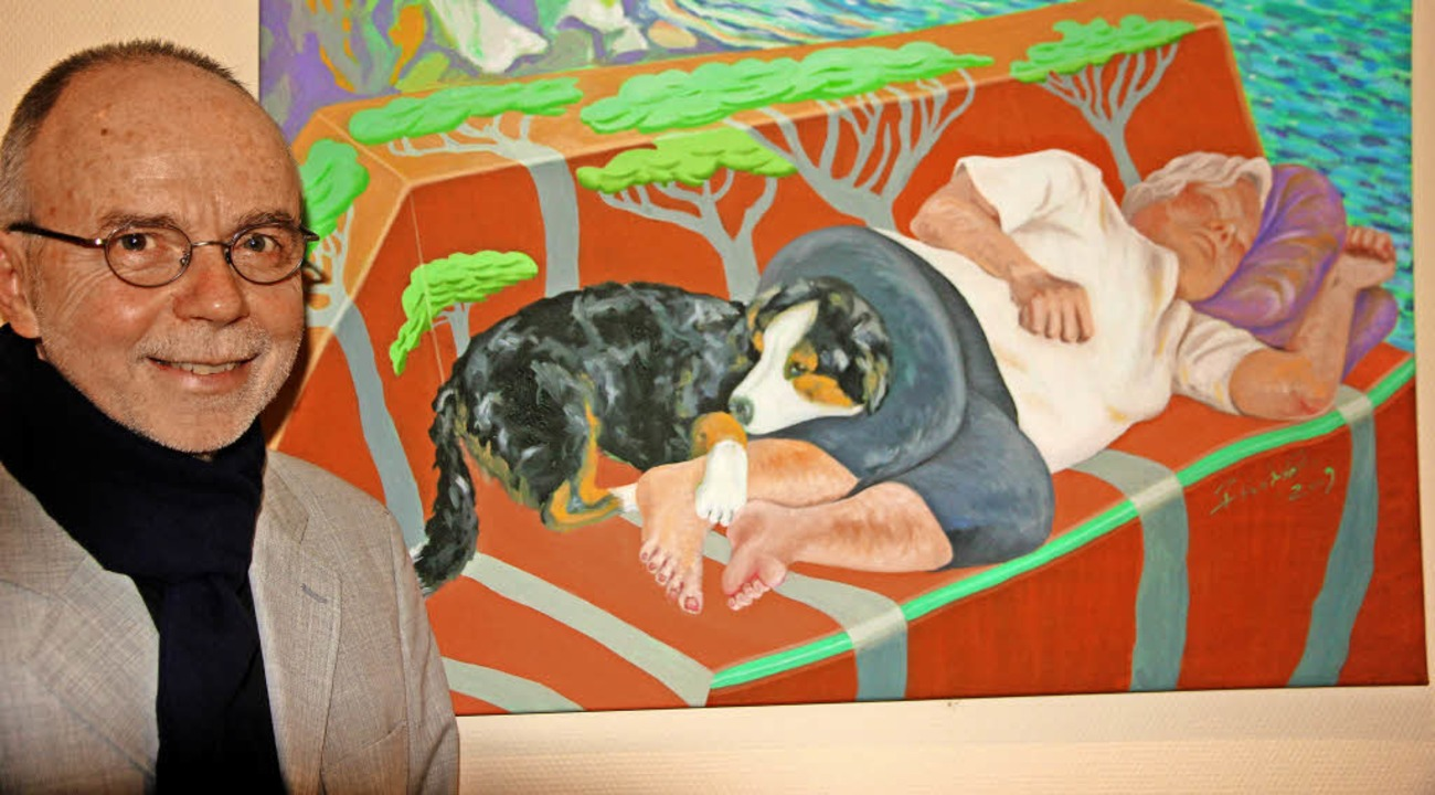 Hans Peter Friedrich stellt im Winzerhof aus.   | Foto: Frowalt janzer