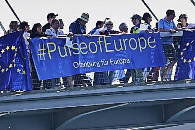 Europa-Demo vor der Wahl in Frankreich