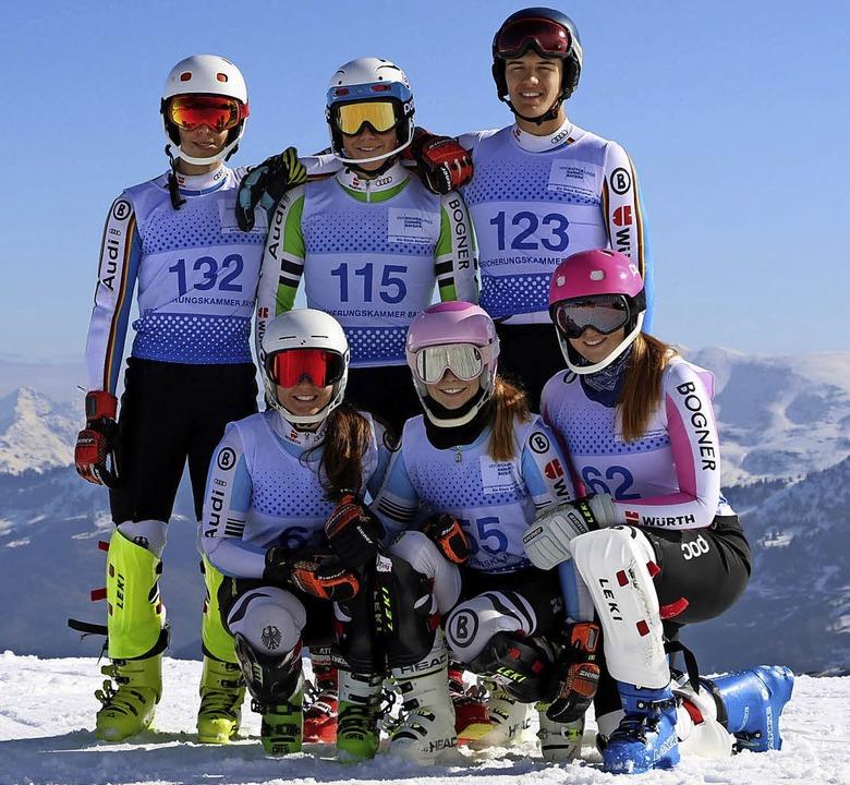 <BZ-FotoAnlauf>Ski Alpin:</BZ-FotoAnla...hnle, Chiara Horning, Katharina Waibel  | Foto: martin siegmund