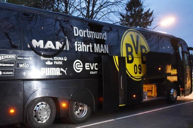 Spiel Borussia Dortmund gegen AS Monaco nach Explosionen am Bus abgesagt