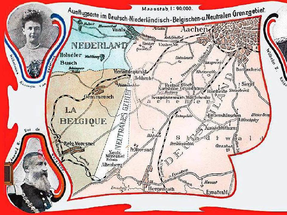 Im neutralen   Moresnet sollte  1907 e... entstehen: Postkarte aus jener  Zeit     Foto: bz