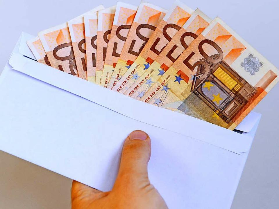 Mehrere hundert Euro hat ein Mann in e...amilie glücklich gemacht (Symbolfoto).  | Foto: Ingo Schneider