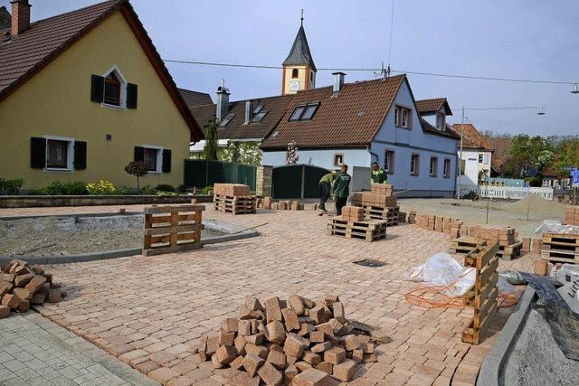 Neues Pflaster in Sasbach