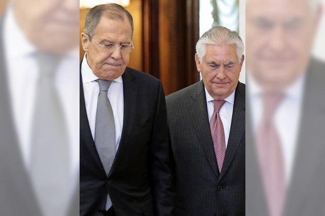 Angespannte Atmosphäre bei Tillersons Antrittsbesuch in Moskau