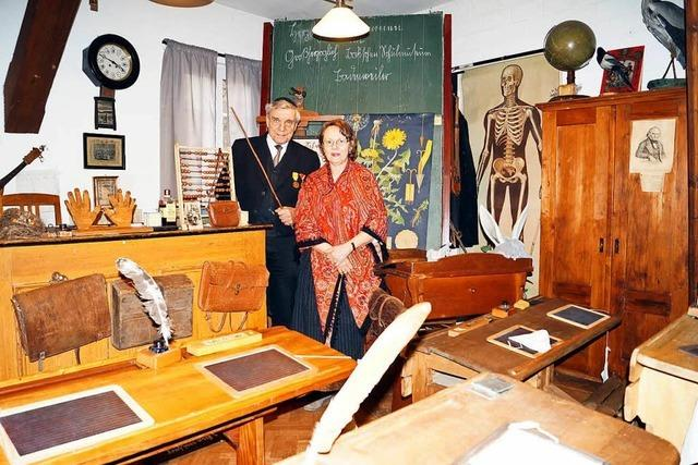 Im Schulmuseum in Badenweiler verblasst die Gegenwart