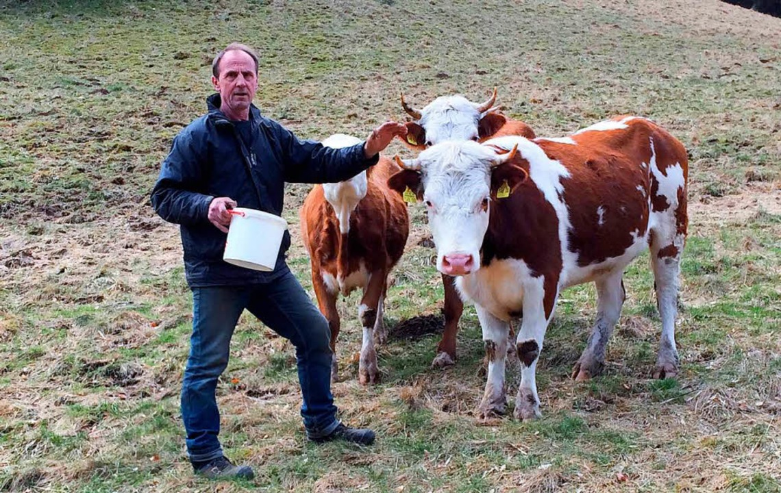 Jochen Baltins ist Bauer im Münstertal...er über die neue Cowfunding-Plattform.  | Foto: Cowfunding