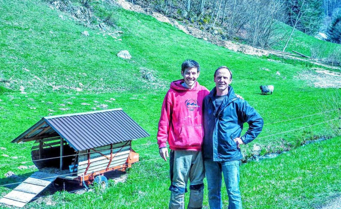 Die Cowfunding-Gründer Moriz Vohrer (links) und Jochen Baltins.  | Foto: Cowfunding