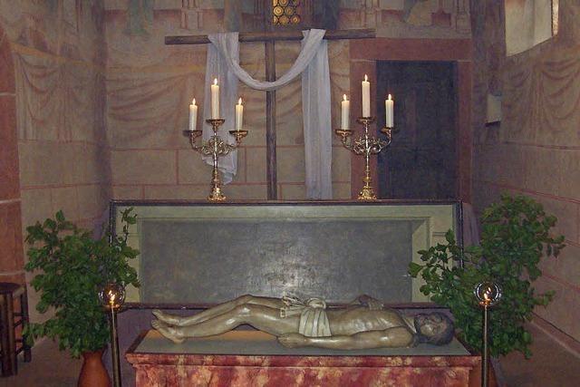 Christusfigur wird für einen Tag in der Galluskirche aufgebahrt