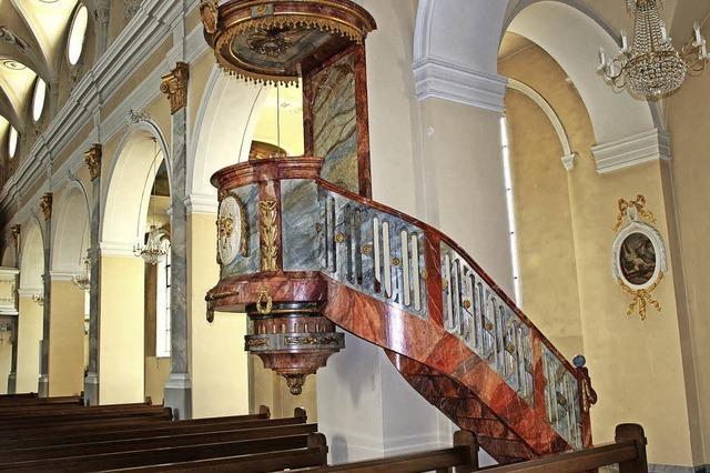 Kanzel in die St. Martinskirche ist nach mehr als 30 Jahren wieder betretbar