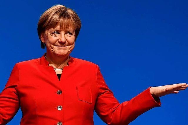 Merkel zieht in den Umfragen an Schulz vorbei
