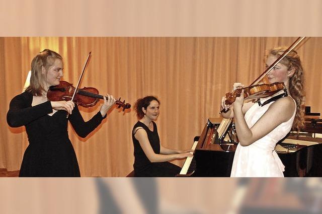 Violinen harmonieren mit Klavier