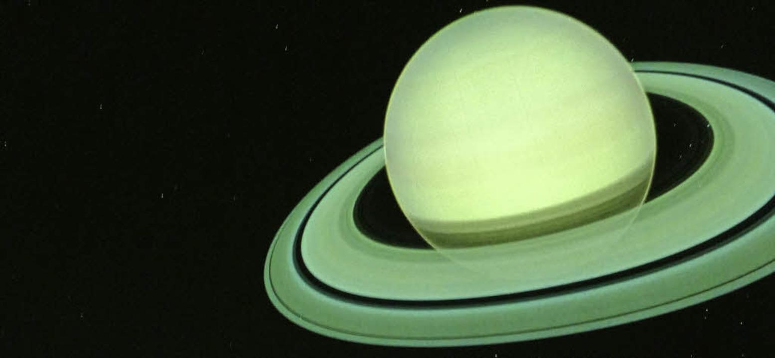 Den Saturn besuchen ohne abzuheben? Im...etarium Freiburg ist das kein Problem.    Foto:  C. Rische