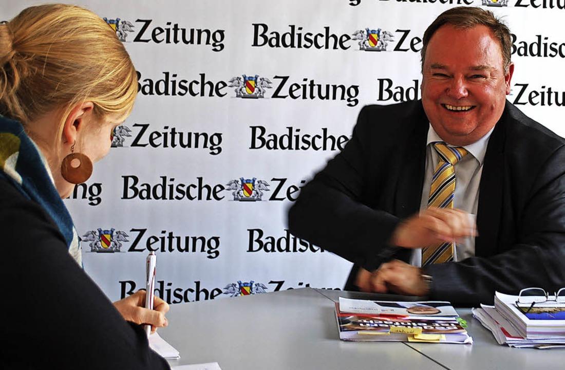 Heinz-Rudolf Hagenacker zu Besuch bei der BZ   | Foto: Sylvia-Karina Jahn