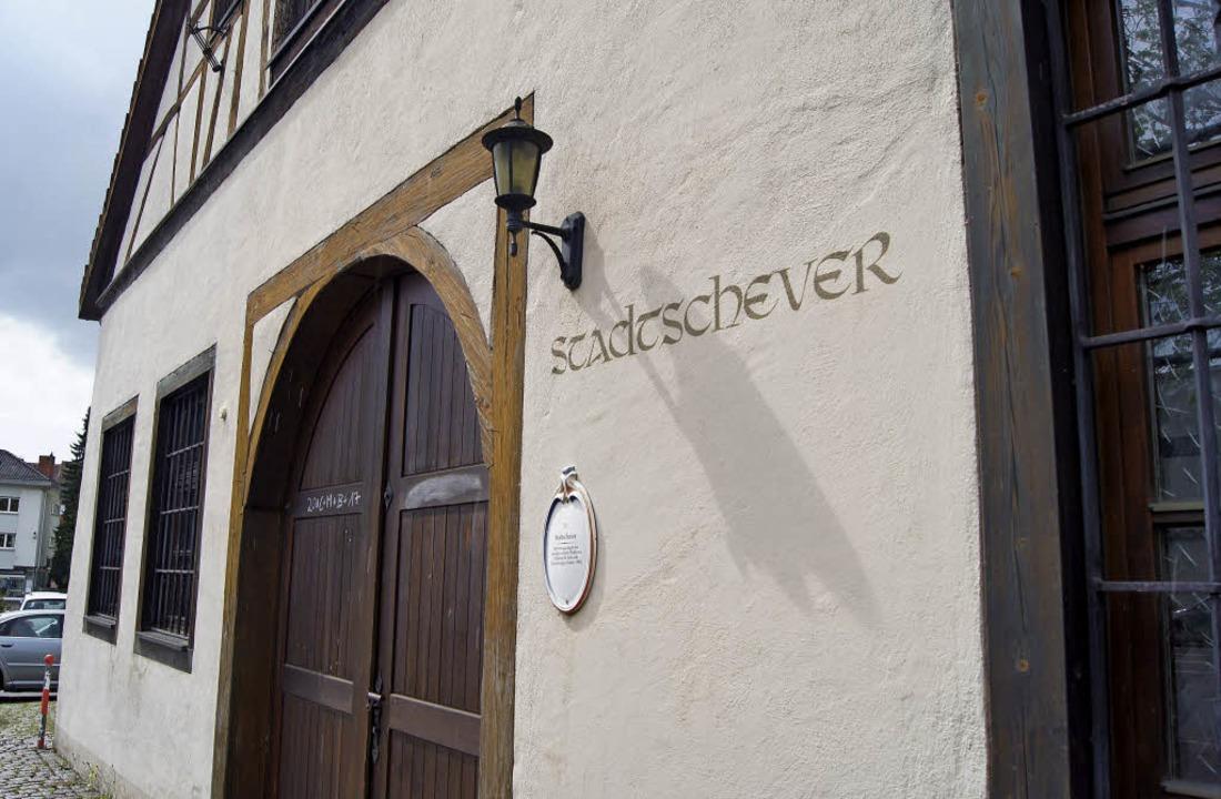 Die Stadtscheuer in Waldshut kann aufg...e bis Ende des Jahres behoben werden.   | Foto: Dana coordes