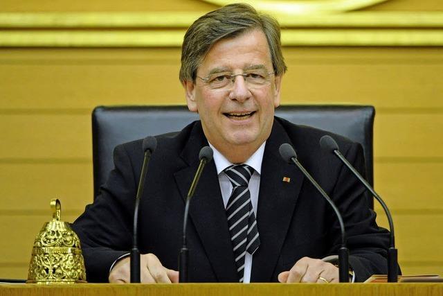 Seit 25 Jahren im Landtag: Willi Stächele blickt zurück