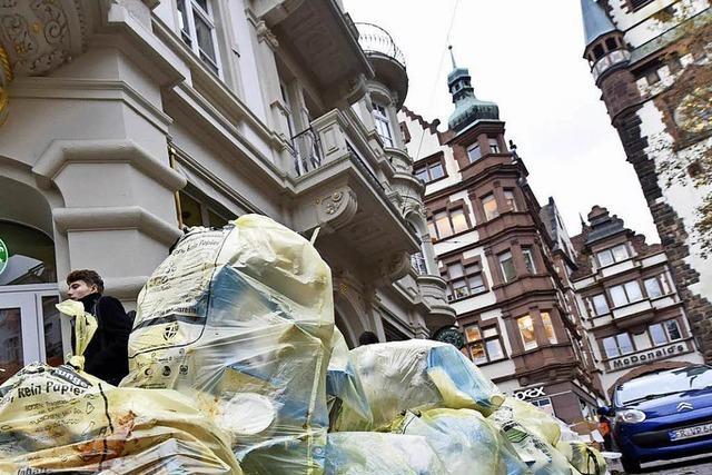 Randalierer vermüllt Freiburgs Einkaufsmeile