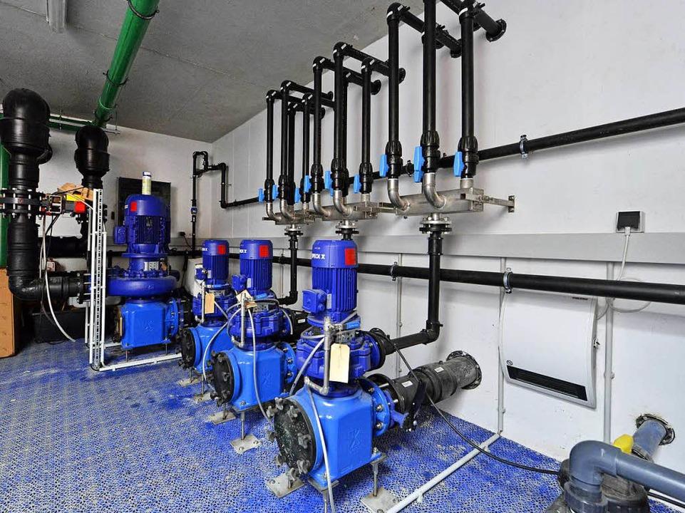 <ppp> </ppp>werden  die Pumpen für die Brunnen (linkes Foto)  | Foto: Michael Bamberger