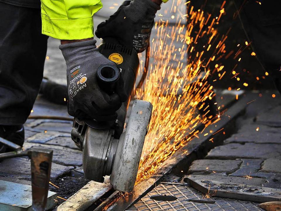 Weichenzungen sind vergleichsweise fil... der Gleisanlage oft gebrochen (Foto).  | Foto: Thomas Kunz