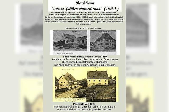 Bachheim, wie es früher war