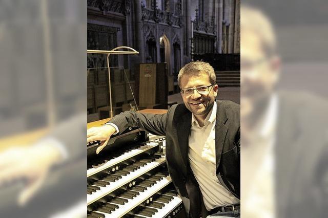 Münsterorganist Schwab spielt