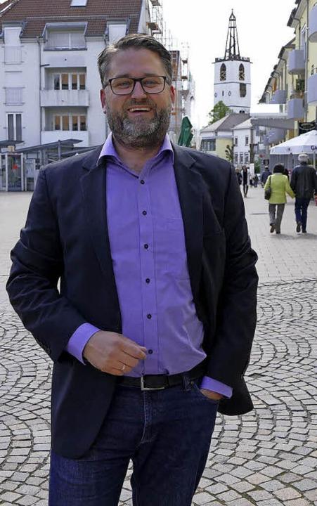 Christoph Kern in der Denzlinger Ortsm... beruhigt und reduziert werden könnte.    Foto: Max Schuler