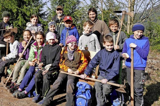 Schüler pflanzten Bäume