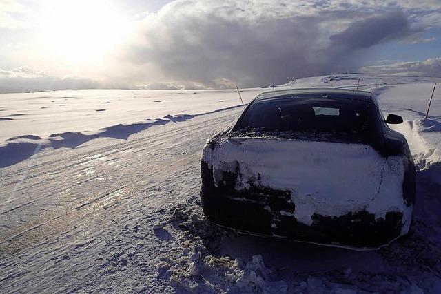 Von Ladestation zu Ladestation: Mit dem Tesla zum Nordkap