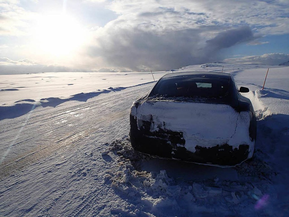 Dem Norden entgegen fahren. Claudia Wö...es gewagt – mit dem Elektroauto.  | Foto: Claudia Wörner