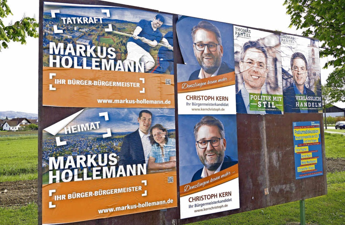 Der Wahlkampf in Denzlingen nimmt Fahrt auf.     Foto: Max Schuler