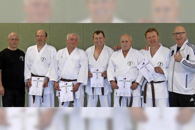 Erfolgreiche Karatesportler