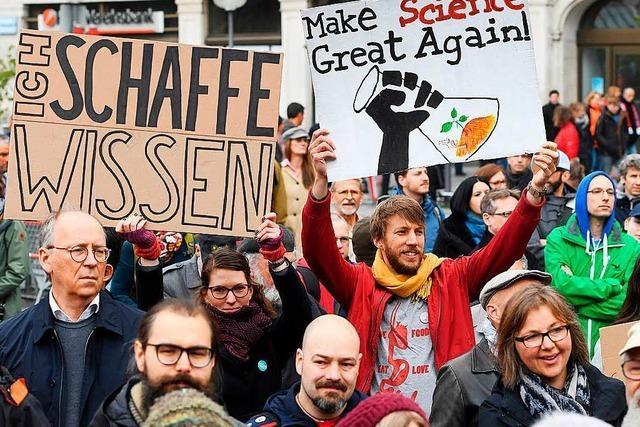 March for Science: 2500 Freiburger demonstrieren gegen
