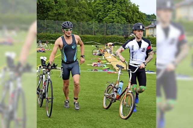 Rennen, Radeln und Schwimmen