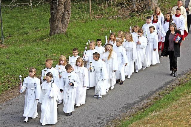 Auf dem Weg zur Erstkommunion