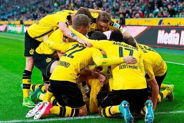 Dortmund besiegt Mönchengladbach drei Minuten vor Schluss