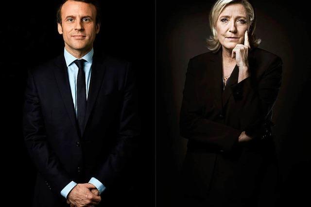 Frankreich hat die Wahl zwischen Macron und Le Pen