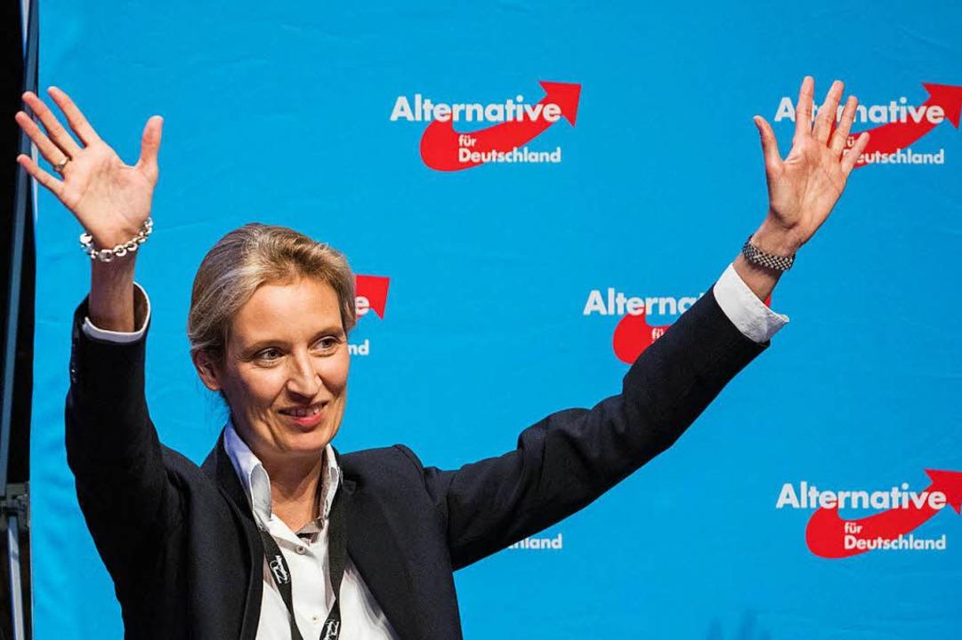 Führt die  neben Alexander Gauland in den Bundestagswahlkampf: Alice Weidel.  | Foto: dpa